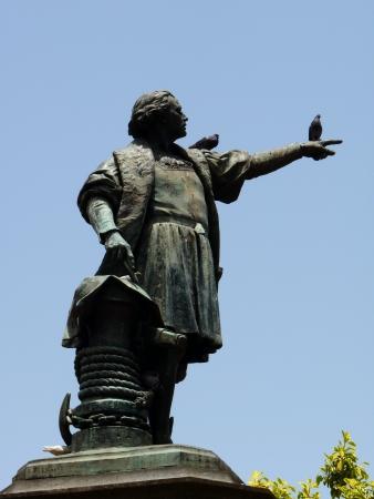 christopher: Statue of Christopher Columbus in Santo Domingo, Dominican republic Stock Photo