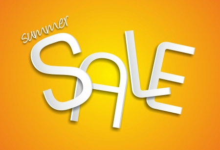 Summer sale illustration  Vector