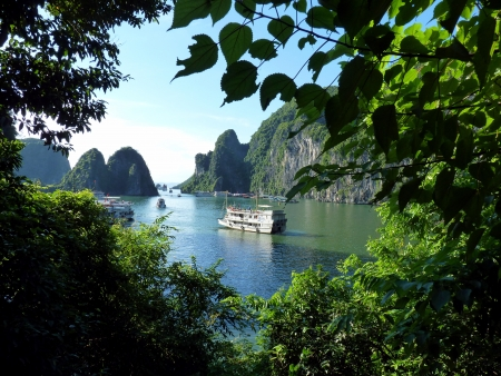 The famous Halong Bay, Vietnam photo