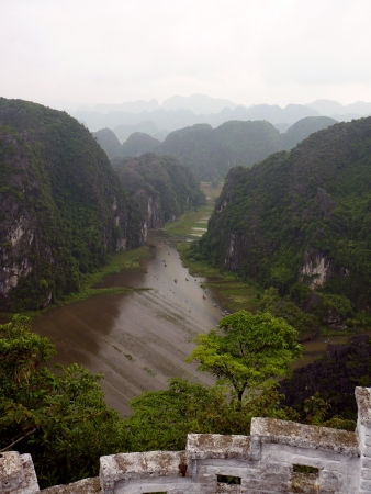 tam: Tam Coc river in Ninh Binh, Vietnam Stock Photo