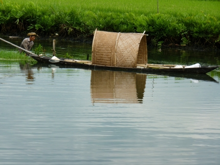 Fisherman hard working in Hoi An, Vietnam