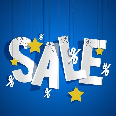 big deal: Hanging Sale on background vector illustration