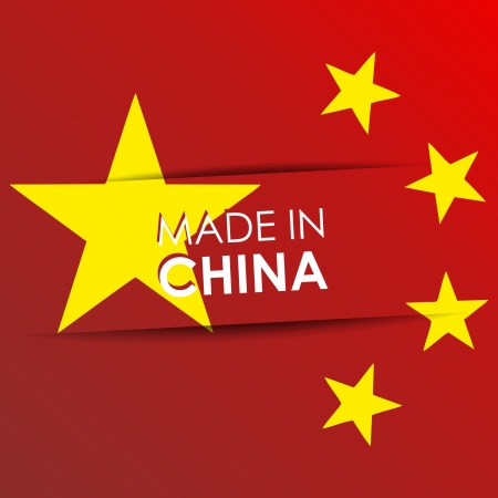 Made in China vector illustration Vector