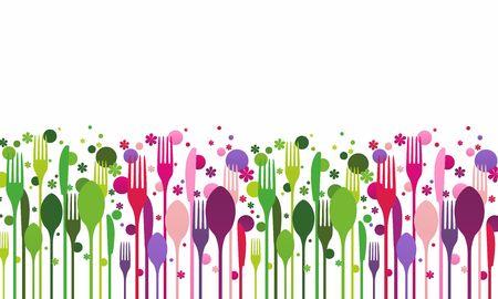 Creative food vector illustration Illustration