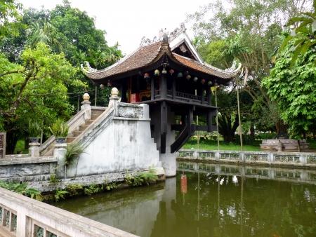 mot: Chua Mot Cot Pagoda, Hanoi, Vietnam