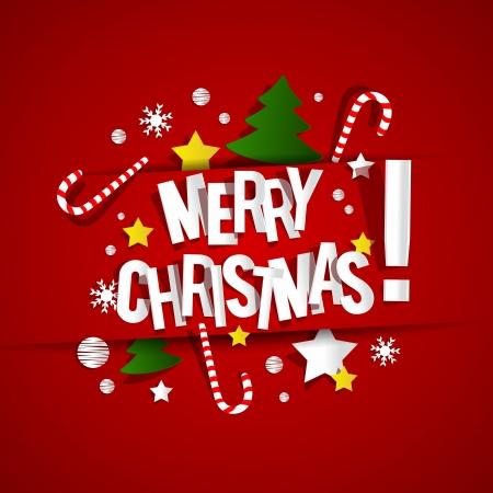 Merry Christmas Card vector illustration