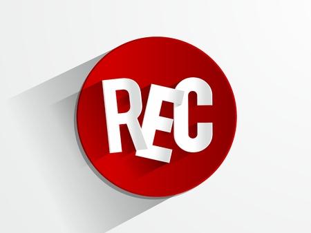 rec: Tasto Rec illustrazione vettoriale