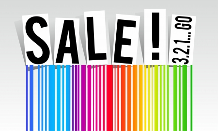 Rainbow sale vector illustration Vector