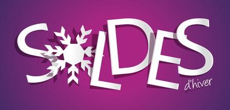 Winter Sale vector illustration Vector