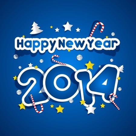 Happy New Year 2014 vector illustration Vector