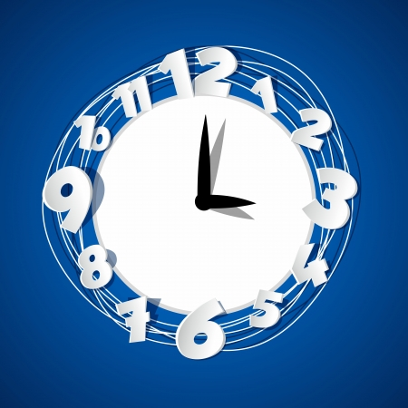 Creative Clock vector illustration Vector