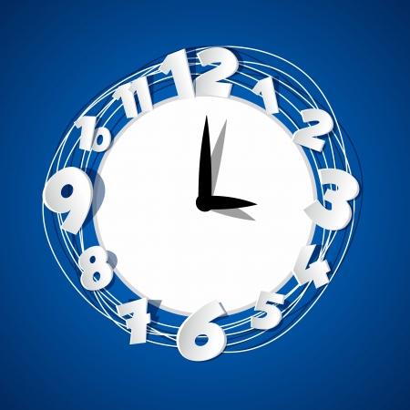 Creative Clock vector illustration