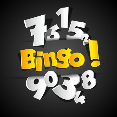 Creative Bingo vector illustration Çizim