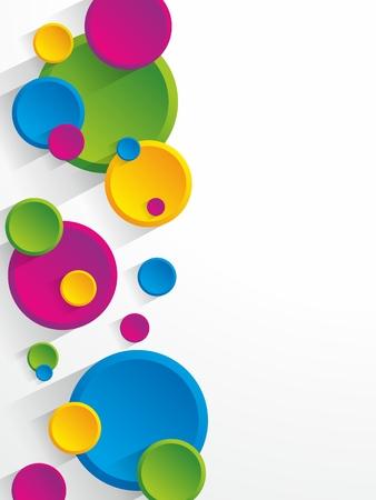 Creative coloured circles background vector illustration