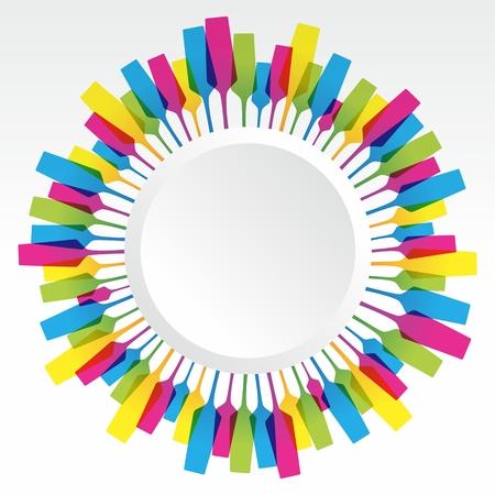 Creative Coloured Mix Champaign Glass vector illustration Vector