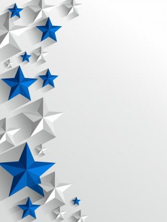 Creative Stars background vector illustration Illustration