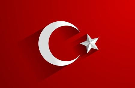 터키를 backgroung의 창조적 인 추상 플래그