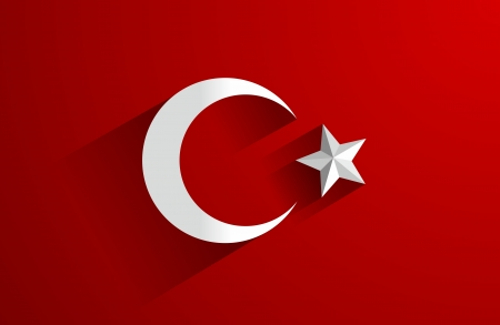 Creative Abstract Flag of Turkey Backgroung Ilustrace