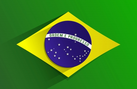 Creative Abstract Flag of Brazil Backgroung Çizim