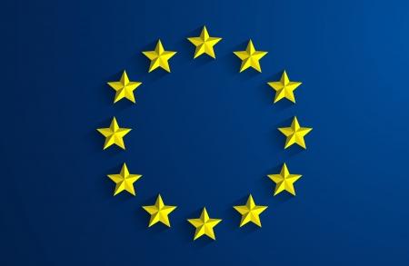 欧州連合ブルーバックの創造的な抽象フラグ
