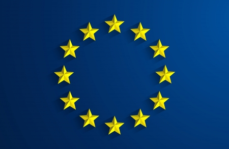 Creative Abstract Flag of European Union Backgroung