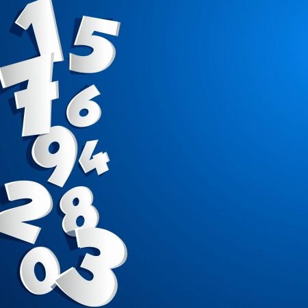 Creative abstract numbers vector illustration