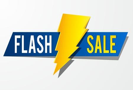 Flash Sale vector illustratie