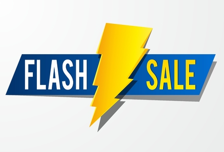 Flash Sale vector illustration Ilustrace