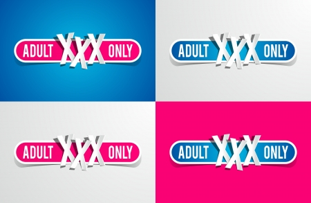 Adult Only Restriction Buttons vector illustration Vector