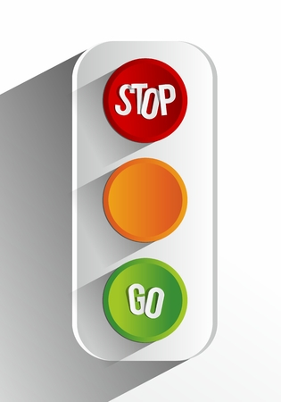 Creative Abstract Traffic Lights vector illustration