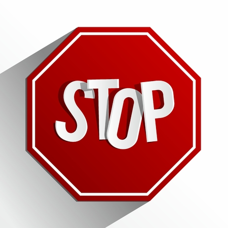 attention sign: Creative Abstract Stop Sign vector illustration Illustration
