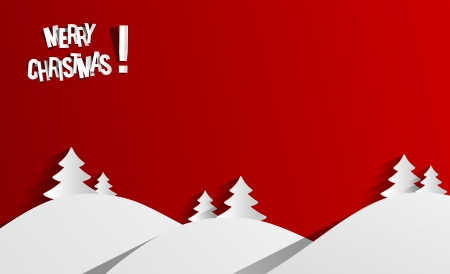 Creative Abstract Merry Christmas Card vector illustration Illustration