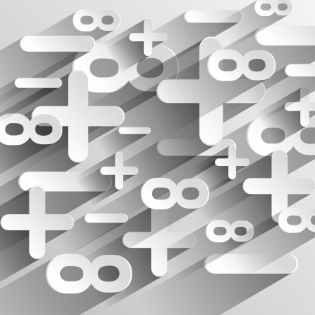 math symbols: Creative Abstract Math Calcul Symbols On Gradient Background vector illustration