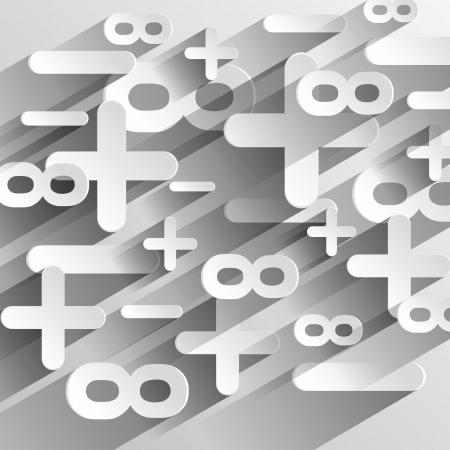 simbolos matematicos: Creativo abstracto Matemáticas Símbolos Calcul en gradiente de fondo ilustración vectorial Vectores