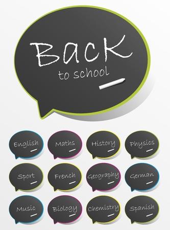 Back To School Speech Bubbles vector illustration Stock Vector - 23858265
