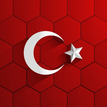 Abstract Turkey Football Team Flag vector illustration Vector