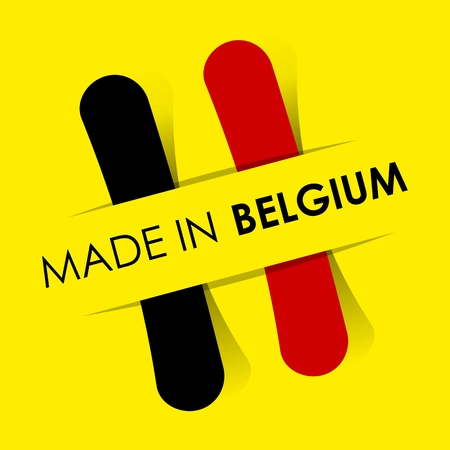 Made In Belgium Badge vector illustration Vector