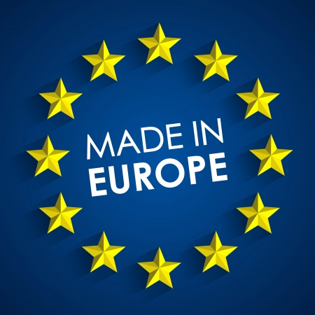 Made In Europe Badge vector illustration Ilustrace