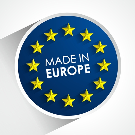 Made In Europe Badge vector illustration Vectores