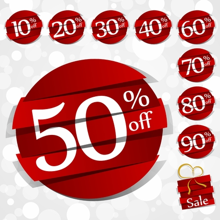Creative Hard Discount Sale Badges vector illustration