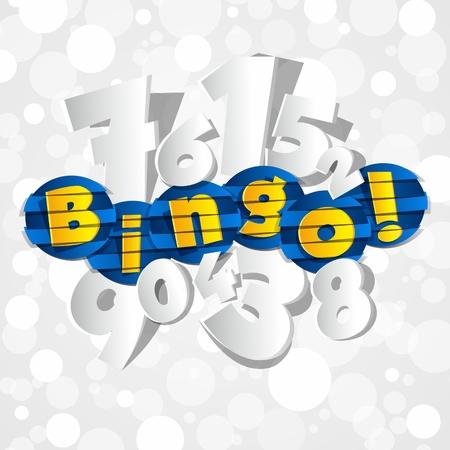 Creative Abstract Bingo vector illustration Çizim