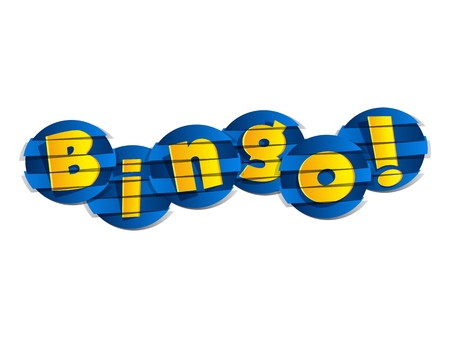 bingo: Creativa ilustración vectorial Resumen de Bingo
