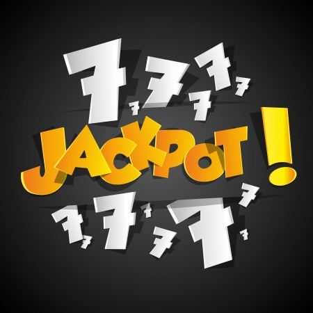 lottery win: Creative Abstract Jackpot symbol vector illustration
