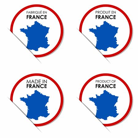Creative Abstract Made in France Badges vector illustration Vector