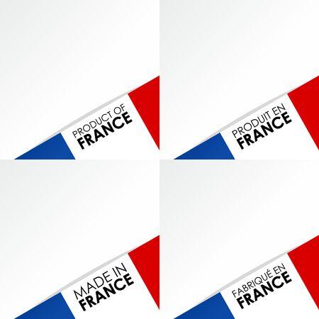 創造的な抽象メイドイン フランス バッジ ベクトル イラスト