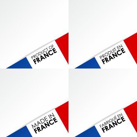 Creative Abstract Made in France Badges vector illustration Illustration