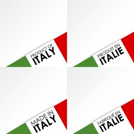 сделанный: Творческий Аннотация Сделано в Италии жетоны векторные иллюстрации