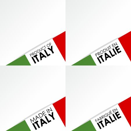 Creative Abstract Made in Italy Badges vector illustration