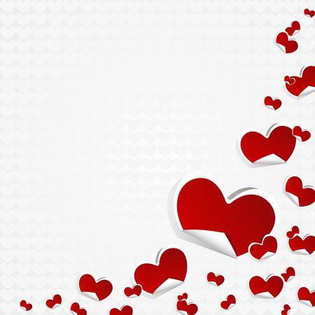 Valentines Day Symbols Hearts Background vector illustration Vector