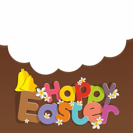 Happy Easter Greeting Card on Background vector illustration Illustration